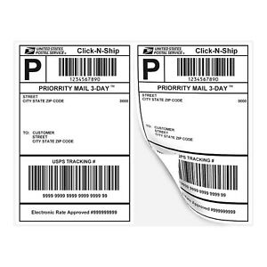 Essential Laser Label Paper Half Sheet Self Adhesive Shipping Labels 8 1 2 X
