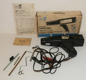 Sears Timing Light Vintage With Manual And Original Box Model 161 2158 Tested