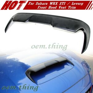 Unpaint Fit For Subaru Wrx Sti 4th Levorg V Style Front Hood Scoop Vent Cover 20