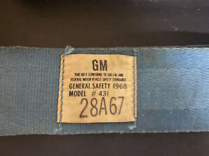 Vintage Gm Seat Belt Bright Blue Female Receiver Only Free Shipping Only Usa