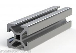 1 X 1 Aluminum T slotted Extrusion Framing Material 20 Long Slot Code 26 1010
