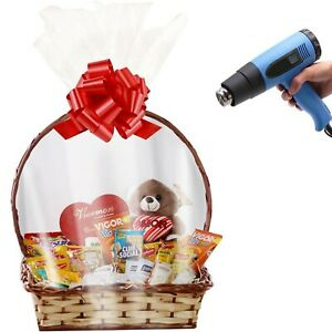 Large Shrink Wrap Bags For Easter Gift Baskets 32x40 Inches Clear Pvc Heat Sh