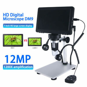 1pc Microscope Adjustable Lamp Brightness Zoom With 4 3 Inch Lcd Display