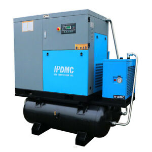 Dual Voltage230v 460v 30hp Rotary Screw Air Compressor With Two 120gallon Tanks