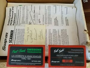 Snap On Tools Fast Track Cartridge Scanner Diagnostics Lot Troubleshooter Manual