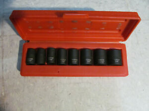Tekton 3 8 Inch Drive Impact Socket Set Cr V 6 Point In Carry Case