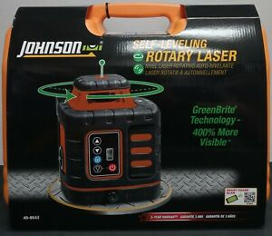 105091 Johnson Self leveling Rotary Laser 40 6543 new In Case