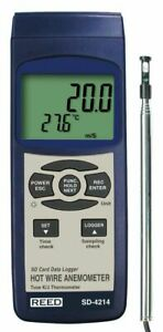 Reed Instruments Sd 4214 Data Logging Hot Wire Thermo anemometer