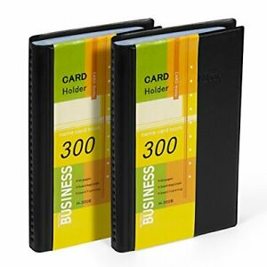 Business Card Holder Organizer Book Pu Leather 2 Pack Total For 600 Busines