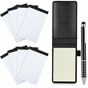 10 Pieces Mini Pocket Notepad Holder Set Included Mini Pocket Notepad Holder