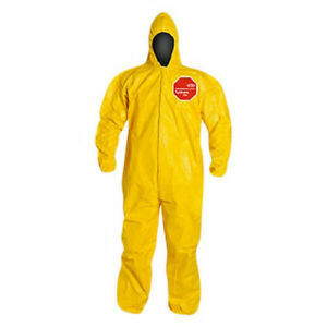 Case 12 New Dupont Tychem 2000 Yellow Coverall Hooded Suits Size Xl