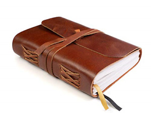 Leather Bound Notebook Blank Pages Hand crafted Genuine Leather Writing A