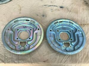 1964 1965 1966 Ford Mustang 6 Cyl 4 Lug Front Brake Backing Plates Left Right