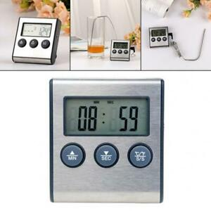 Digital Lcd Meat Thermometer Cooking Smoker Grill Bbq Oven Kitchen Food Meter