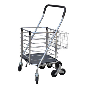 Milwaukee Shopping Cart Rotating 3 wheels Swivel Casters Removable Base