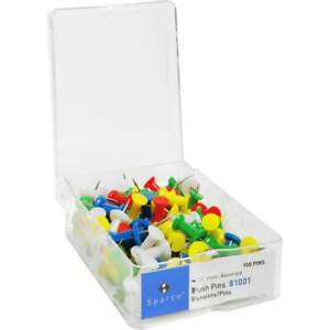 Business Source 1 2 Assorted Head Push Pins