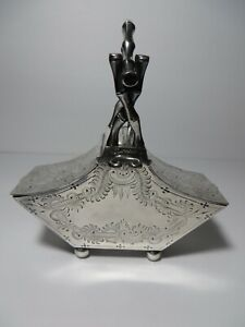Silver Plated Double Sugar Scuttle By Thomas Otley Sons Sheffield 1894 1895