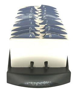 Rolodex Large Open Top Card File Black A z Dividers Blank Cards 9x4 5