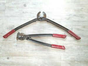 Set Of 2 Klein Tools 63035 Large Cable Cutters still Sharp