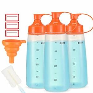 Condiment Squeeze Bottle Wide Mouth Pack 400ml Empty Reusable 14 Oz 400 Ml 3