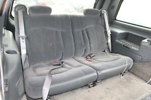 2002 Chevy Tahoe Third Row 3rd Back Bench Gray Cloth Rear Seat Oem