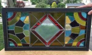 Antique Stained Glass Window Transom