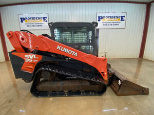 2017 Kubota Svl 95 2s Cab Skid Steer Track Loader With A c And Heat