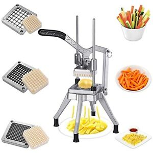 French Fry Cutter Mulit funtion Vegetable Fruit Upgrade Style With 3 Blades