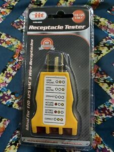 Sealed iit 26400 3 wire 125 Vac receptacle outlet ground Tester fast Shipping