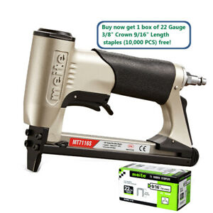 Meite Mt7116s 22ga 3 8 Crown Air Upholstery Stapler With Safety Air Staple Gun