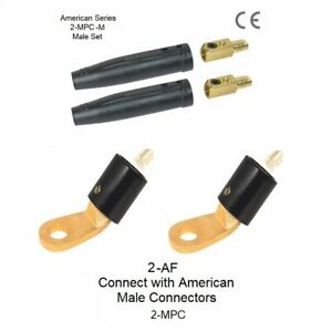 Welding Cable Connectors 2 mpc male 2 af Cable Lugs For 1 0 2 0 Cable 2 Each