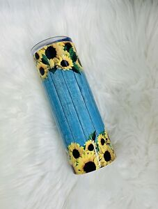 Rustic Wood Sunflower Tumbler For Her Gifts For Her Gifts for women gifts for $30.00
