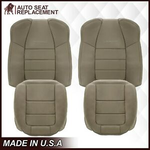 2001 2003 Ford F350 F250 Lariat Extended Cab Leather Perforated Seat Cover Tan