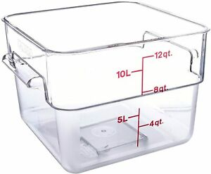 Cambro Camwear Polycarbonate 12 Quart Square Food Storage Container 2 Pack