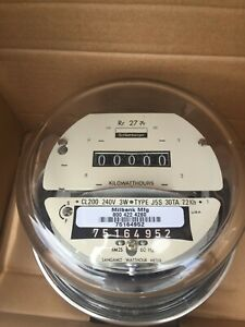 New Schlumberger sangamo Electric Watthour Smart Meter kwh Cyclone 240v 200a