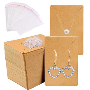 150pcs Earrings And Necklace Display Cards With Self sealing Bags Earring Card