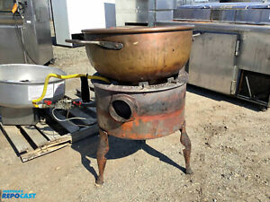 Savage Bros No 22 Burner Gas Candy Stove Copper Kettle Item 8788