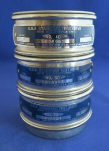 Lot 3 Usa Standard Testing Sieve 70 50 40 3 All Stainless Steel