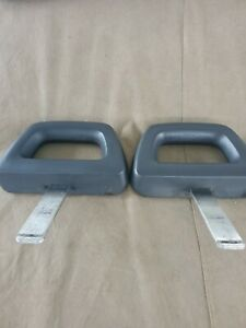Charcoal Gray Halo Seat Headrests For 1984 1986 Ford Mustang Gt