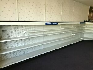 Used Gondola Shelving For Retail Display Or Storage 54 h X 48