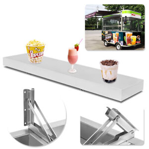 Desk 4 Feet Shelf For Concession Window Stand Truck Accessories Business