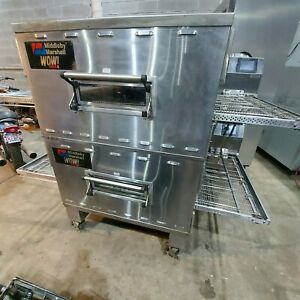 2010middleby Marshall Wow Ps640g Double Deck Conveyor Pizza Oven Belt Width 32