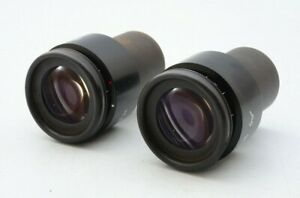 Pair Of Zeiss 44 40 34 Pl 10x 10x 25 Goggle Microscope Eyepieces For 30mm 21418