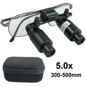 Dental Loupes 5x 300 500mm Surgical Medical Binocular Dentist Magnifier Zooming