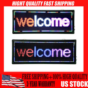 2 kinds 40 x15 Led Scrolling Sign 3 Color P10 Advertising Message Board
