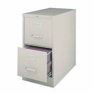 2 drawer Vertical File With Lock 15 By 25 By 28 3 8 inch Putty