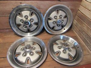 Vintage Set Of 4 1970 73 Ford Mustang sport 14 Mag Hubcaps Wheel Covers