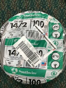 New Southwire Type Uf b 14 2 With Ground 100ft 600 Volt Free Shipping