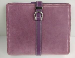 Compact Purple Cow Suede Leather Franklin Covey Planner 7 Ring