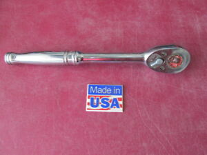 Vintage Snap On Tools 1 2 Drive Ratchet Wrench S710 10 Long Made In Usa